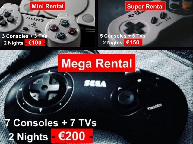 Retro Gaming Private Event Rental Packages