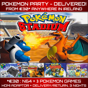 Pokemon Party Rental N64 Delivered Ireland
