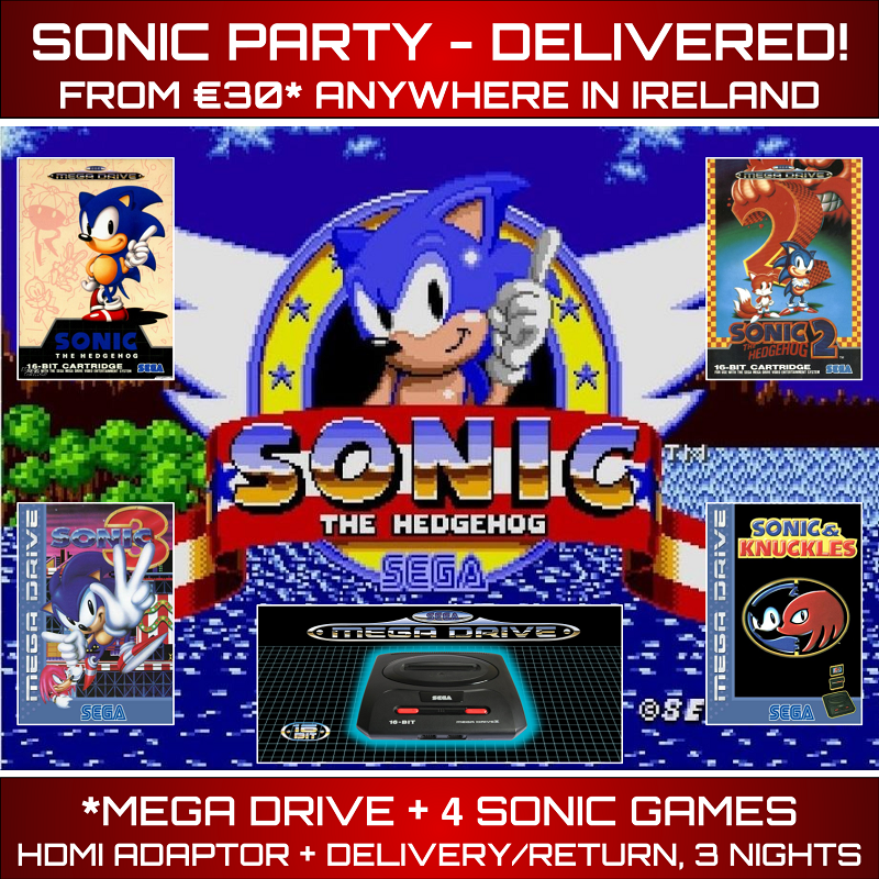 Sonic Party Delivered Ireland