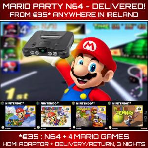Mario Party N64 Delivered Rental Ireland