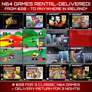 N64 Games Rental Delivered Ireland