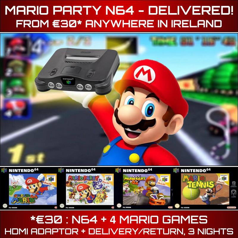 Mario Party N64 Rental Delivered Ireland