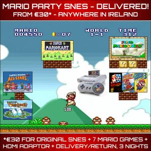 Mario Party SNES Rental Delivered Ireland