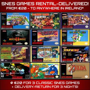 SNES Games Rental Delivered Ireland